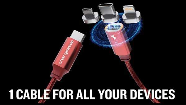 Infinity All-In-One Magnetic Charging Cable Supports 100W PD, QC 3.0/4.0 and Data Transfer