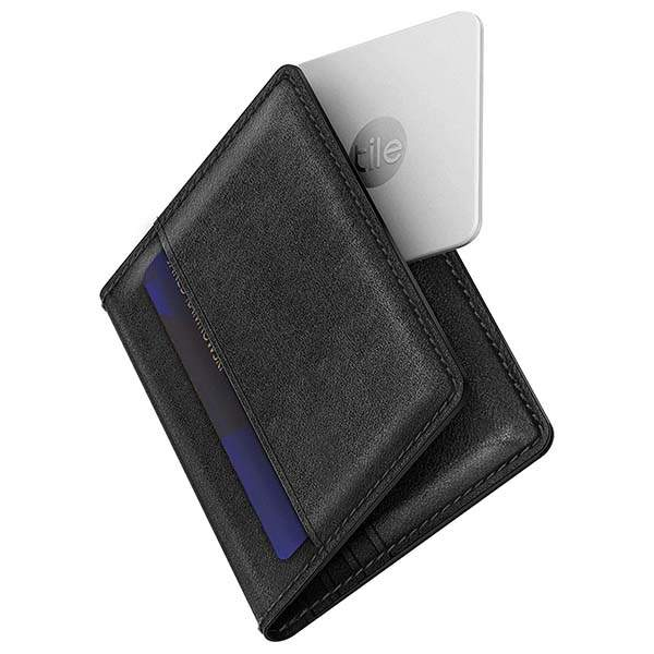 Nomad Leather Bifold Wallet with Integrated Bluetooth Tracker
