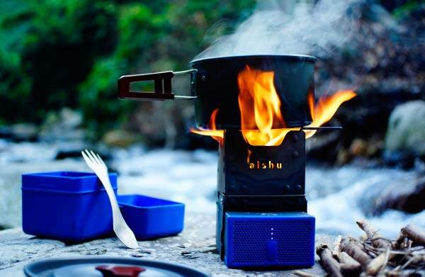 PureFlame Waterproof Foldable Camping Stove with Power Bank