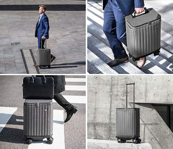 Rollogo Escape S Smart Carry-On Luggage with Power-Generating Wheels