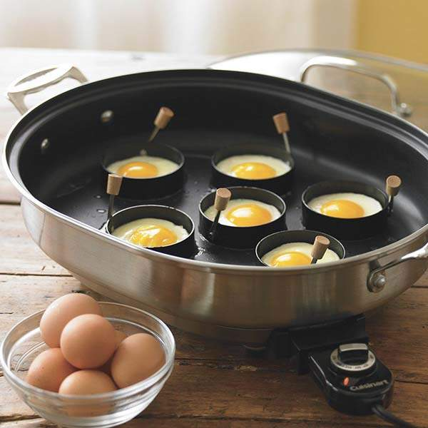 Stainless Steel Fried Egg Ring with Nonstick Coating
