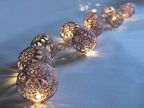 The Hand Crocheted  Fairy LED String LightsThe Hand Crocheted  Fairy LED String Lights