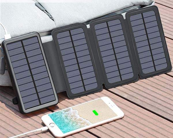 Tranmix Portable Waterproof Solar Charger with 25000mAh Power Bank