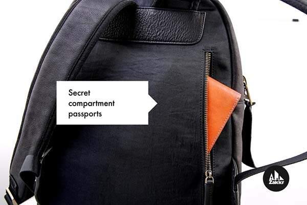 Zakkr Handmade Full Grain Leather Backpack