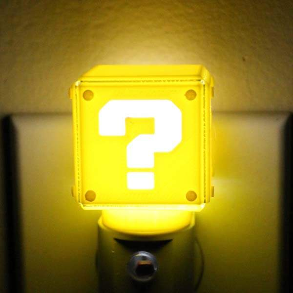 3D Printed Super Mario Question Block LED Night Light