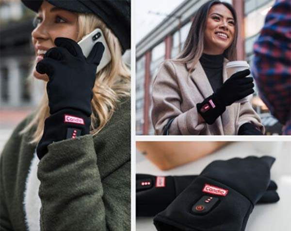 Candle Heated Gloves with Carbon Fiber Heaters
