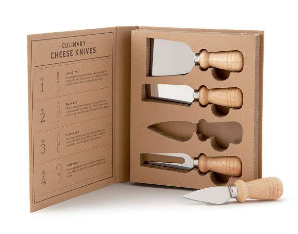 Entertainer's Wooden Cheese Knife Set