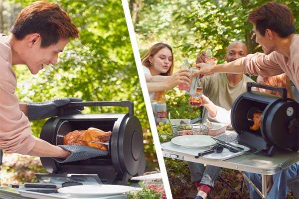 Grillr Electricity-Free Portable Rotisserie Oven