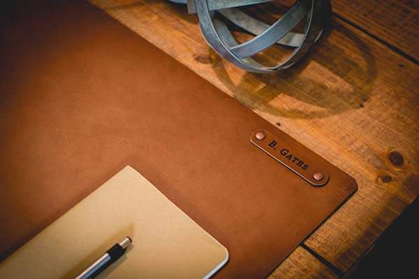 Handmade Personalized Leather Desk Mat