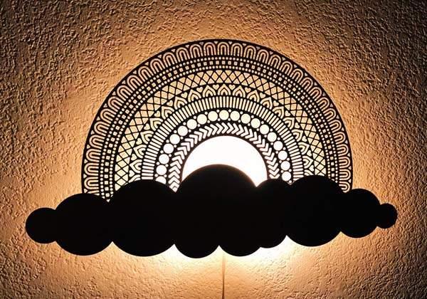 Handmade Rainbow Wooden LED Night Light