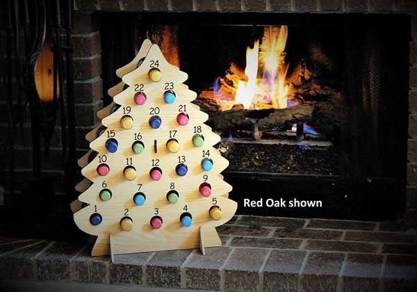 Handmade Wooden Christmas Wine Advent Calendar