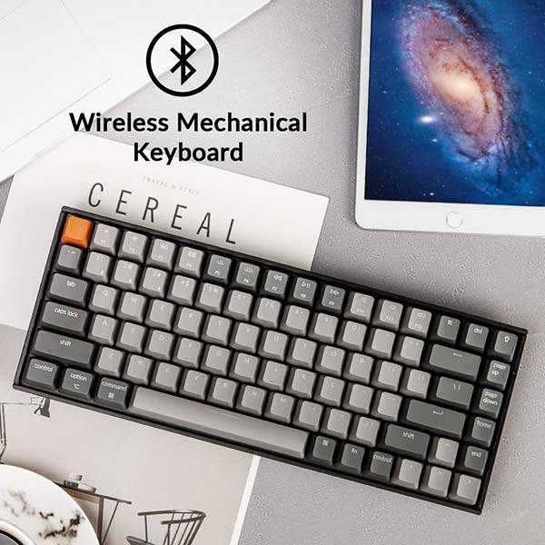 Keychron K2 Wireless Mechanical Keyboard with 84 Keys