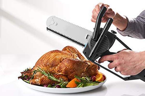Mighty Chainsaw Inspired Electric Carving Knife Perfect for Thanksgiving Turkeys