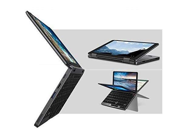 MiniBook M3 Mini Laptop with 360-Degree Tilting Display