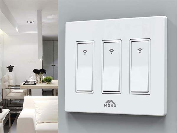 Moko Smart Life 3 Gang Smart Light Switch Compatible with Alexa, Google Home and IFTTT