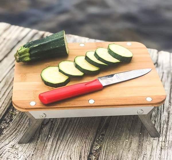 nCamp Collapsible Bamboo Camping Cutting Board