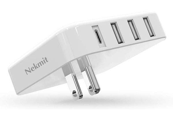 Nekmit 4-Port USB/USB-C Wall Charger