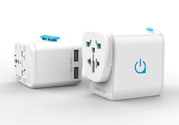 OneWorld Duo World Travel Adapter with Two USB Ports