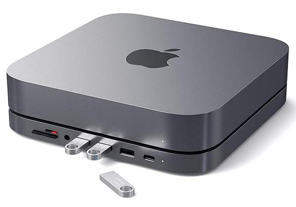 Satechi Aluminum Mac Mini Stand with USB-C Hub
