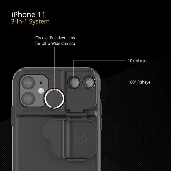 ShiftCam Multi-Lens iPhone 11 Case with Up to 5 Lenses