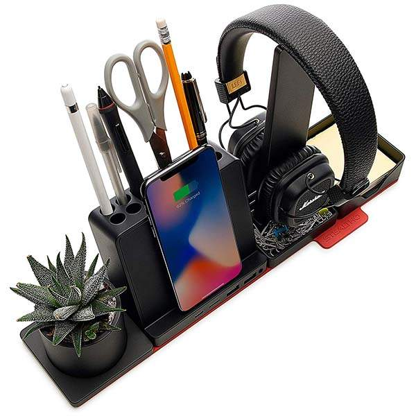 Stealtho Modular Desk Organizer with Wireless Charger, USB Hub and More
