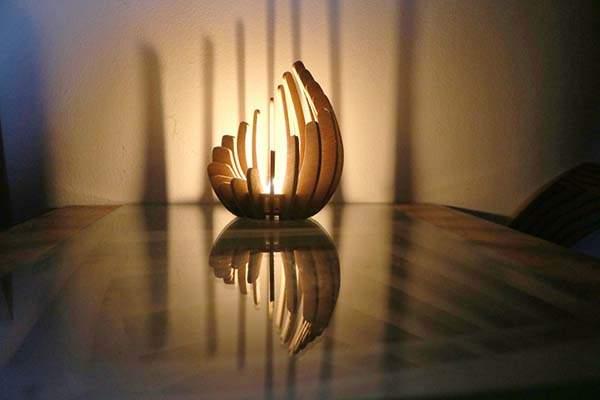 The Handmade Wooden Tealight Holder for Soft Light and Sleek Shadows