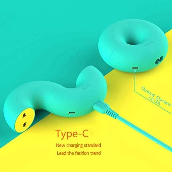 Donut Shaped USB-C Power Strip with 2 USB Ports