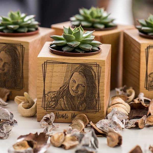 Handmade Personalized Wooden Planter