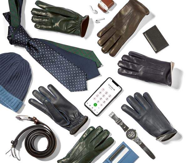 Maestrale Napoli Handmade Touchscreen Leather Gloves