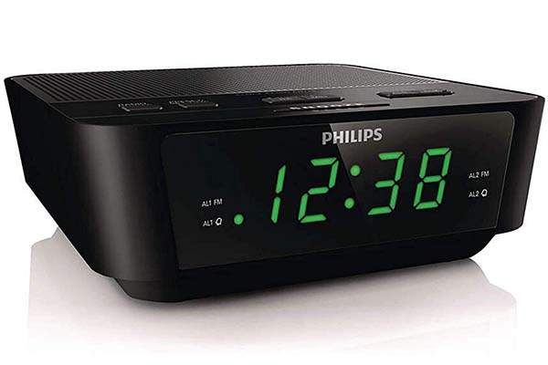 Philips Digital Alarm Clock with FM Radio and Sleep Timer