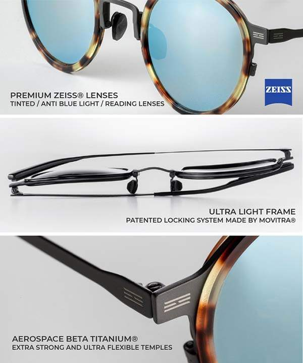 TYTUS Combo Self-Protecting Titanium Sunglasses