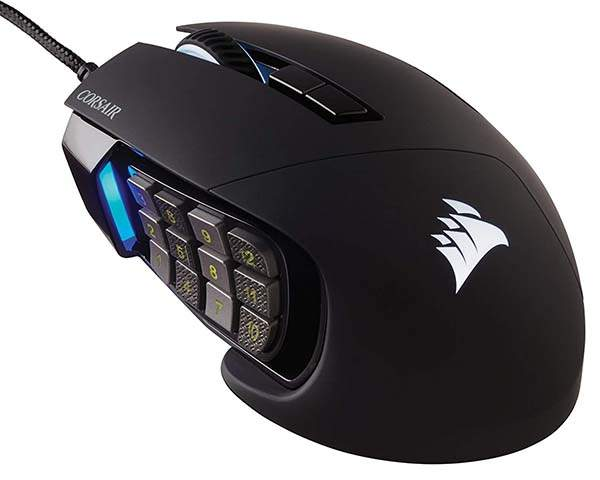 Corsair Scimitar RGB Elite MMO/MOBA Gaming Mouse
