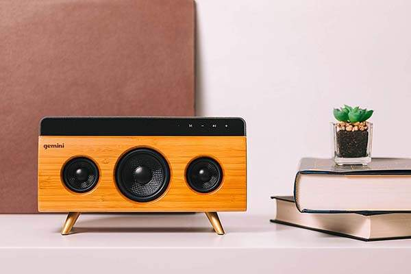 Gemini BRS-330 Bamboo Home Bluetooth Speaker