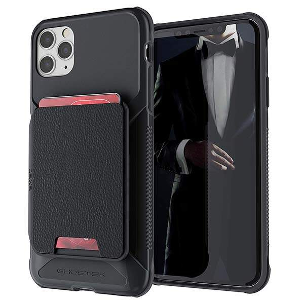 Ghostek Exec iPhone 11 Case with a Magnetic Leather Card Holder