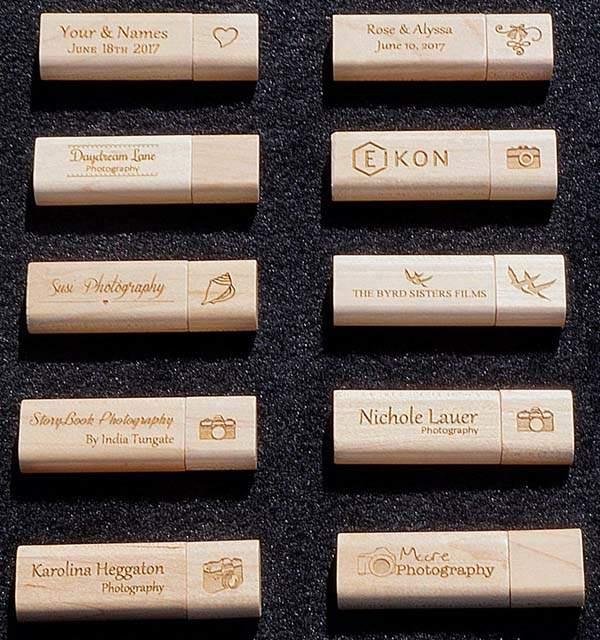 Handmade Customizable Wooden USB Flash Drive