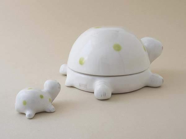 Handmade Sea Turtle Ceramic Palette Box and Brush Rest