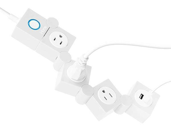 iHome Multi-Charge Swivel Power Strip with 1200-Joule Surge Protection