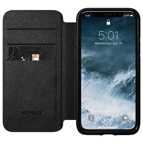 Nomad Rugged Folio iPhone 11 Leather Case for 11/11 Pro/11 Pro Max