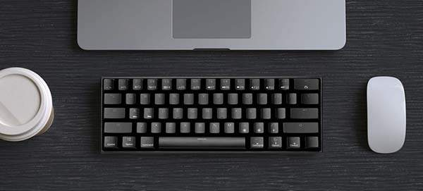 Velocifire M2 Portable Bluetooth Mechanical Keyboard with 61 Keys