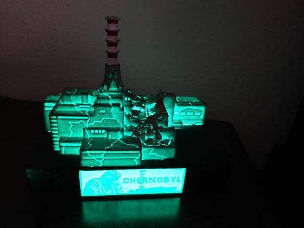 3D Printed Chernobyl Nuclear Plant LED Light