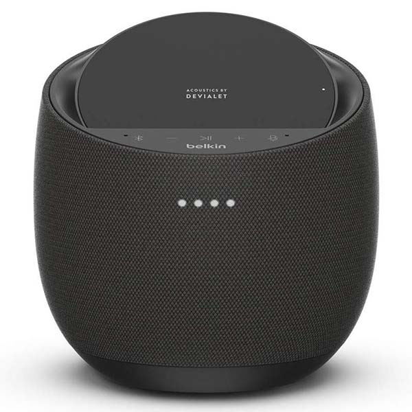 Belkin SoundForm Elite Hi-Fi Smart Home Speaker with Wireless Charger