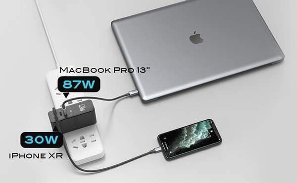 Galio GaN+SiC 120W USB/ USB-C Wall Charger