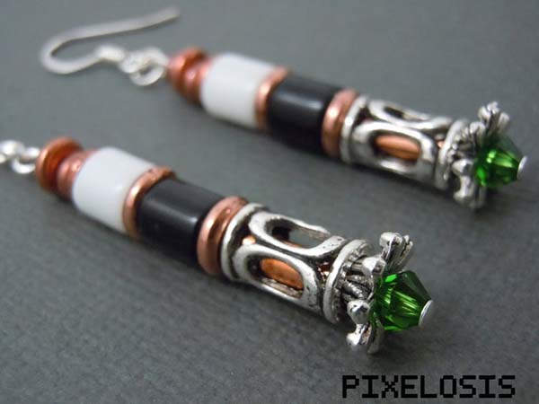 Handmade Doctor Who Sonic Screwdriver Earrings