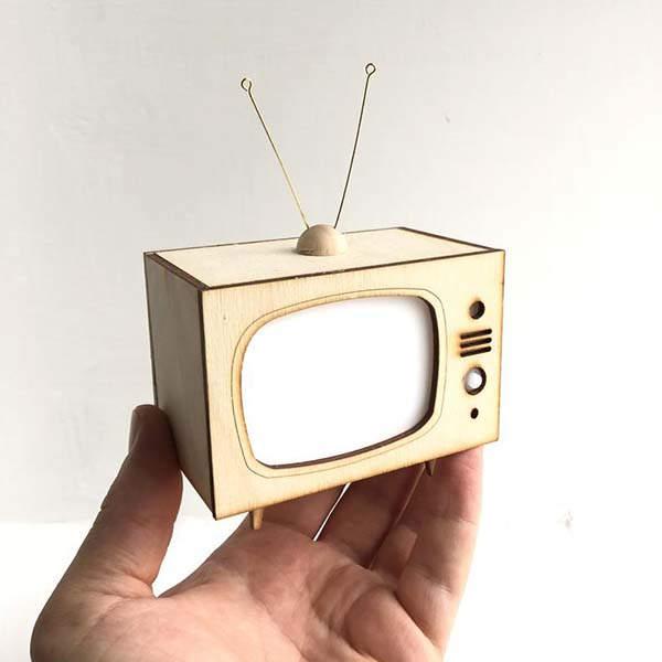 Handmade Mini TV LED Nightlight