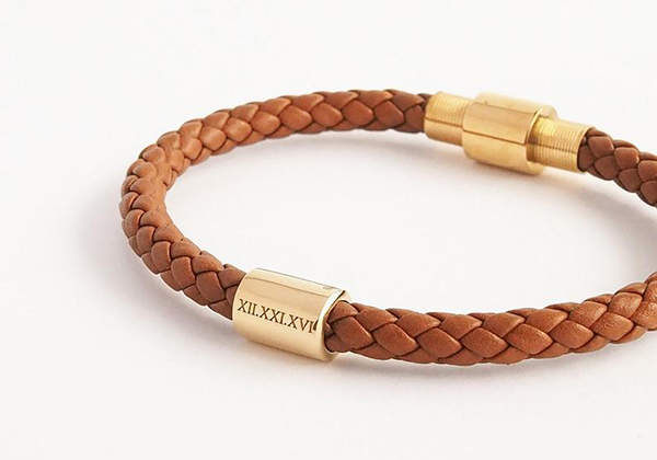 Handmade Personalized Braided Leather Bracelet