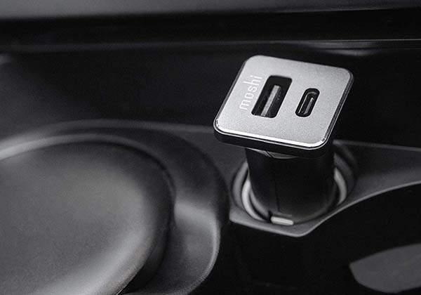 Moshi QuickDuo USB/ USB-C Car Charger