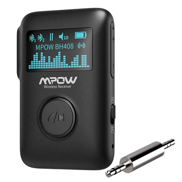 Mpow Bluetooth Music Receiver with LED Screen