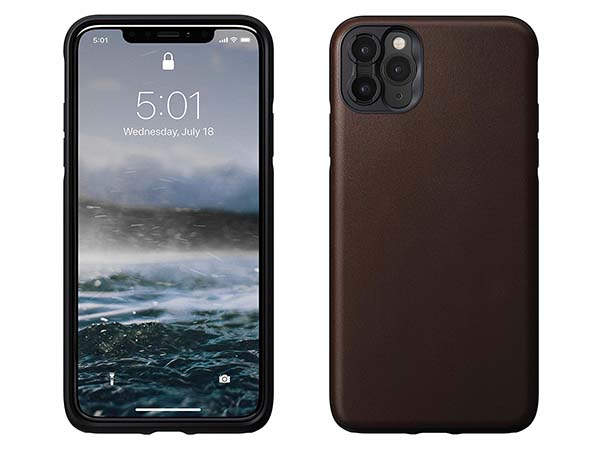 Nomad Rugged iPhone 11 Leather Case Supports Moment Lenses