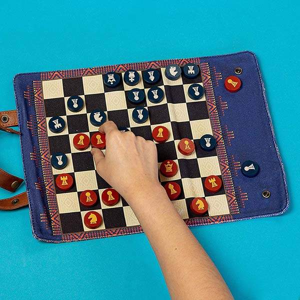 Pendleton Travel-Ready Roll-Up Chess and Checkers Set