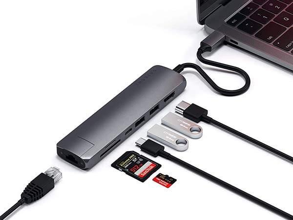 Satechi Slim Multi-Port USB-C Hub with 60W Power Delivery